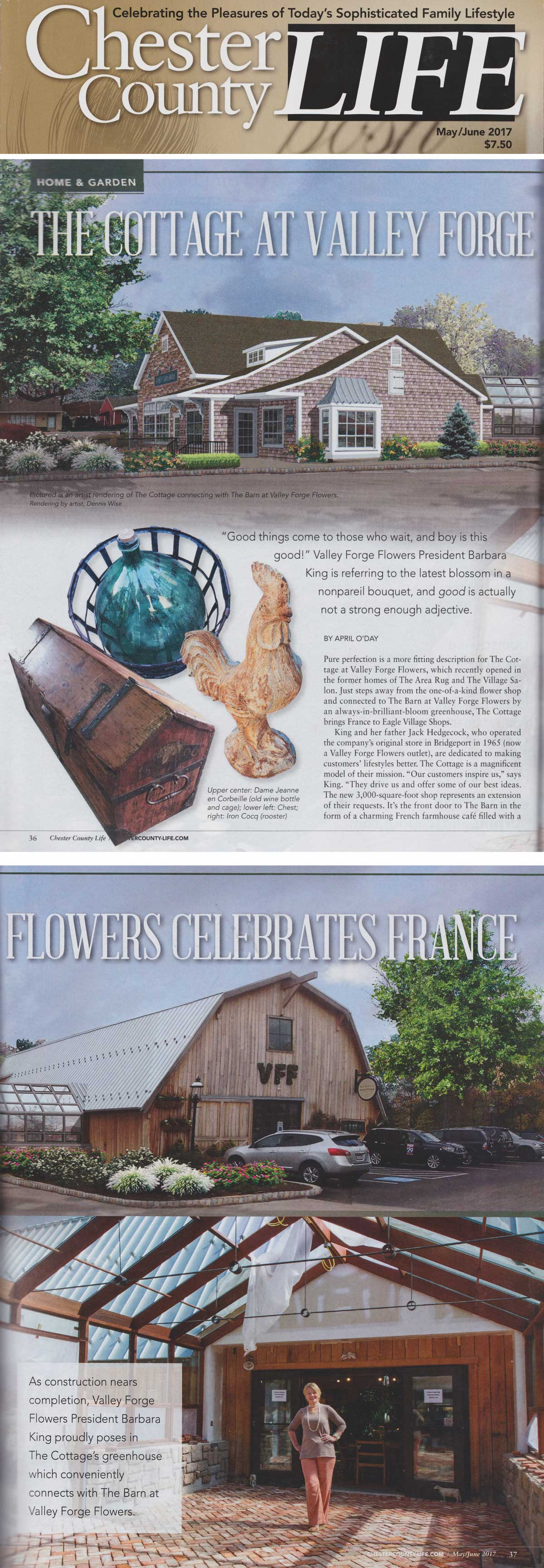 Valley Forge Flowers in Wayne, PA - Chester County Life 2017