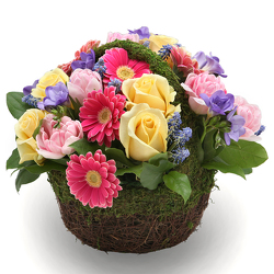 Spring Mossy Basket from Valley Forge Flowers in Wayne, PA