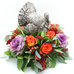 Turkey Centerpiece Silver from Valley Forge Flowers in Wayne, PA