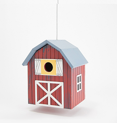 Barbara King Home Sweet Home Birdhouses - Barn from Valley Forge Flowers in Wayne, PA