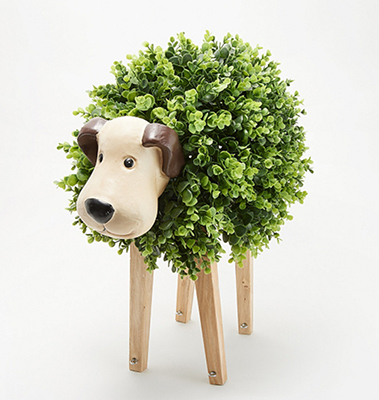 Barbara King Sculptured Faux Moss Animals from Valley Forge Flowers in Wayne, PA