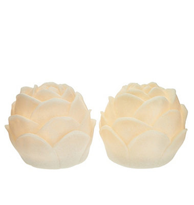 Barbara King Set of 2 Illuminated Sandstone Flower Blossoms  from Valley Forge Flowers in Wayne, PA