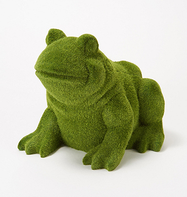 Barbara King Sculptured Faux Moss Animals - FROG from Valley Forge Flowers in Wayne, PA
