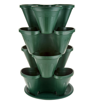 Barbara King 4-piece Stackable Planter Tower - GREEN from Valley Forge Flowers in Wayne, PA
