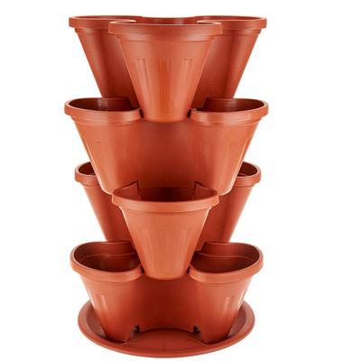 Barbara King 4-piece Stackable Planter Tower - TERRACOTTA from Valley Forge Flowers in Wayne, PA