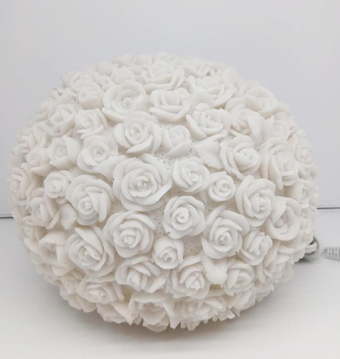 Barbara King Illuminated Sandstone Sphere - ROSE from Valley Forge Flowers in Wayne, PA