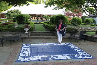Barbara King Reversible Outdoor Mat w/ Stakes and Bag from Valley Forge Flowers in Wayne, PA